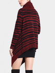 Striped Oversized Cardigan in Red