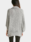 Grey Heaps Collar Loose Bat Blouse