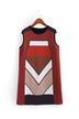 Vintage Color Block Sleeveless Dress
