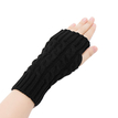 Black Cable Knit Handwarmer