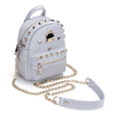 Grey Rivet Design Mini Backpack