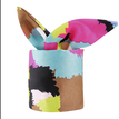 Ladies Multi Color Print Lightweight Silk Scarf