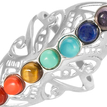 Open Colorful Bead Ring