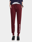 Casual Red Stretchable Drawstring Waist Jogger