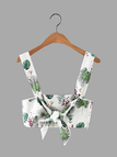 Fashion Floral Print Crop Top