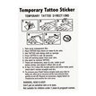 Feather Floral Metallic Temporary Body Tattoo Sticker