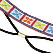 Clover Ethnic Embroidered Tape Headband in White