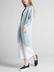 Light Blue Knitted Cardigan with One Button