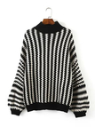 Monochrome Chevron Pattern Sweater