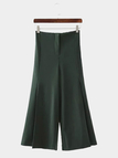 Loose Wide Leg Trousers in Green