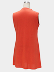 Sleeveless Mini dress in Orange