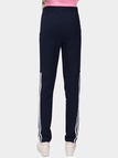 Deep Blue Elastic Waist Side Pockets Sport Trousers