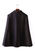 Navy Square Collar Woolen Capes