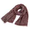 Burgundy Oversized Scarf In Boucle Knit