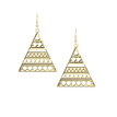 Colorful Triangle Hook Earrings Without Stone