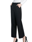 Fashion Side Pockets Palazzo Pants in Black