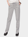 Grey Drawstring Waist Side Pockets Sport Trousers
