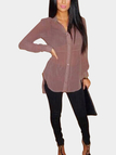 Long Sleeve Top with Back Splits