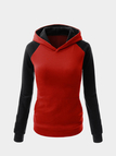 Fashion Hoodie With Contrast Sleeve