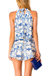 Blue And White Print Co-ord