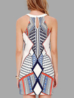 Geometrical Print Sleeveless Mini Dress