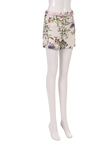 Side Zipper Fresh Floral Print Shorts with Belt