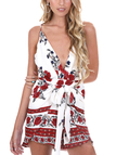 Plunge Floral Print Cami Mini Dress