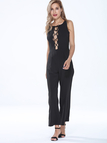Sleeveless Lace-up Jumpsuit