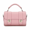 Micro Leather-look Top Handle Bag in Pink