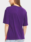 Purple Casual T-shirt With Tassel Details