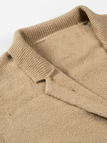 Tan Knitted Cardigan with One Button
