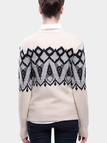 Beige Geo-Tribal Sweater