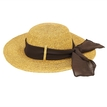 Outdoor Woven Straw Floppy Hat with Bowknot