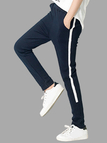Blue Fashion Two Side Pockets Sport Trousers
