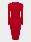 Red Body-Conscious Dress with Sexy Strap