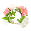 Open Type White and Pink Color Flower Bride Bracelets