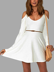 White Cut-Out Slim Fit Dress