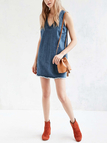 Fashion Sexy Loose V-neck Sleeveless Denim Dress