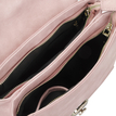 Pink Leather-look Handbag with twin roomy compartments Design