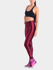 Burgundy Button Sports Leggings