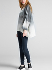 Grey Relaxed Curved Hem Knitwear