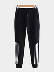 Black Casual Stretchable Drawstring Waist Jogger