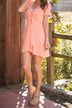 Wrap Front Mini Dress in Pink
