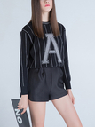 Letter Printing Knitted Jumper in Black