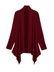 Burgundy Open Front Thin Cardigan with Metallic Glitzy Details