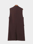Longline Gilet with Flap Pocket