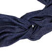 Blue Denim Vintage Knotted Stretch Headband