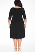 Plus Size Wrap Front Dress in Black
