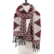 Geo Print Scarf with Tassel