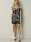 Black Sweetheart Body-Conscious Lace Dress
